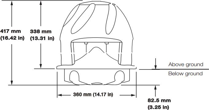 outdoor xt850-ss soundtube 8 u0026quot  2-way outdoor speaker system in sandstone